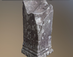 game-ready 3d model pillar old damaged