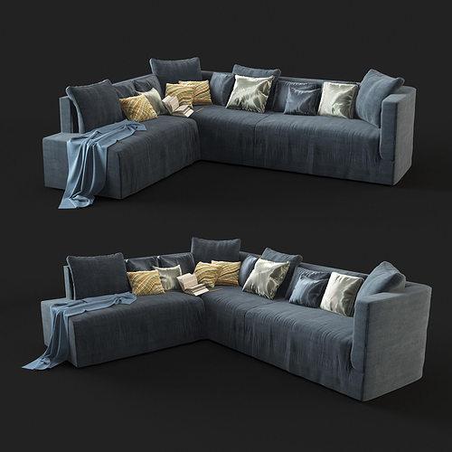 modern sofa 3d model max obj mtl fbx 1