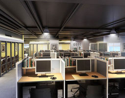 3d  realistic office design 03