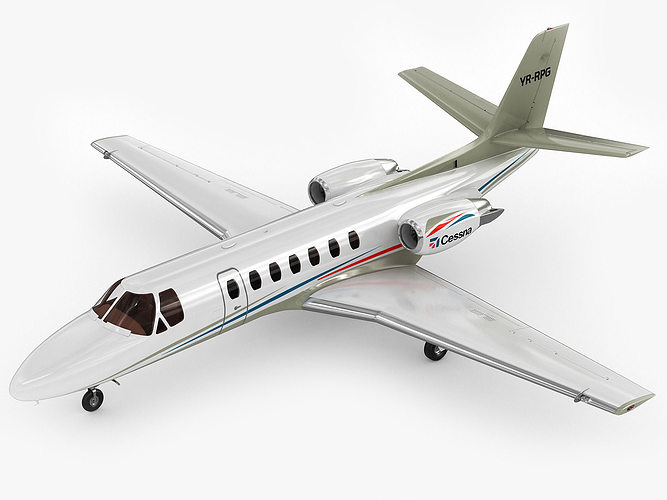 cessna 560 citation v 3d model max obj 3ds fbx c4d lwo lw lws 1