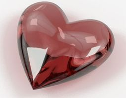 3D Heart Shaped Gemstones 002