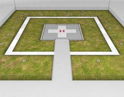 Helipad square ground 3D Model