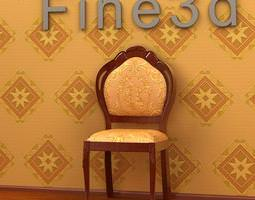 3d embroidered chair