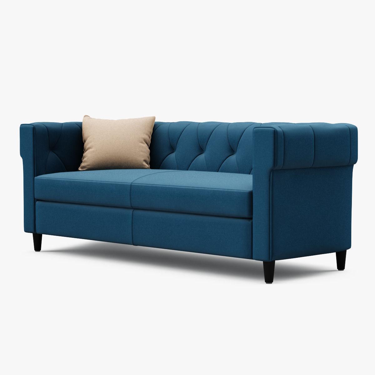 Superieur ... Chester Tufted Upholstered Sofa 3d Model Max Obj Mtl Fbx 2 ...
