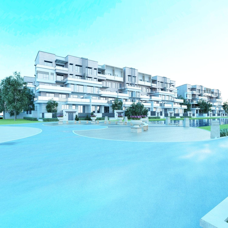 3D Modern Apartmant Building 054