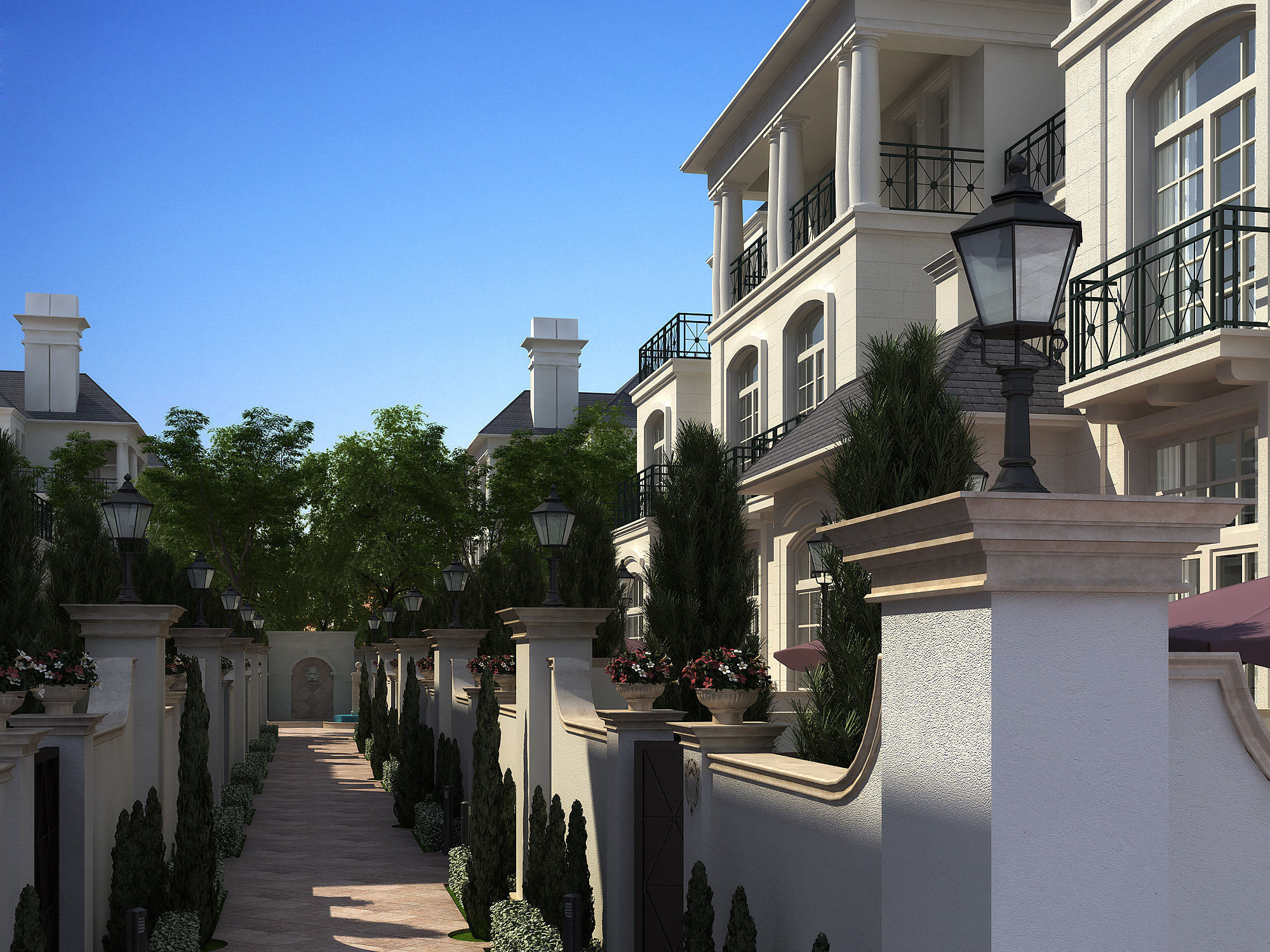 Rich houses Building 109 3D model CGTrader