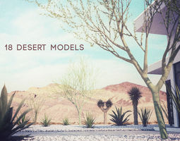 3d 18 high-res desert cg plant and tree models