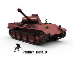 Panther Ausf D 3D Model