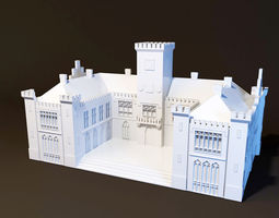 3d print model neo-ghotic town hall