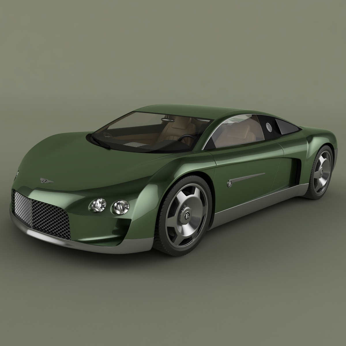 Bentley Hunaudieres Concept 3D Model .max .obj .3ds