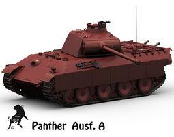 panther ausf a 3d model max obj fbx