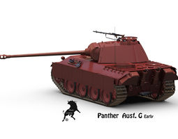 Panther Ausf G Early 3D Model
