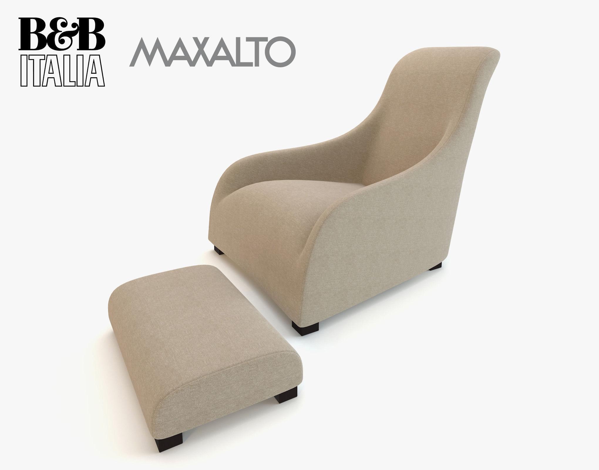 Bebitalia armchair maxalto kalos apta with 3d model for B b maxalto