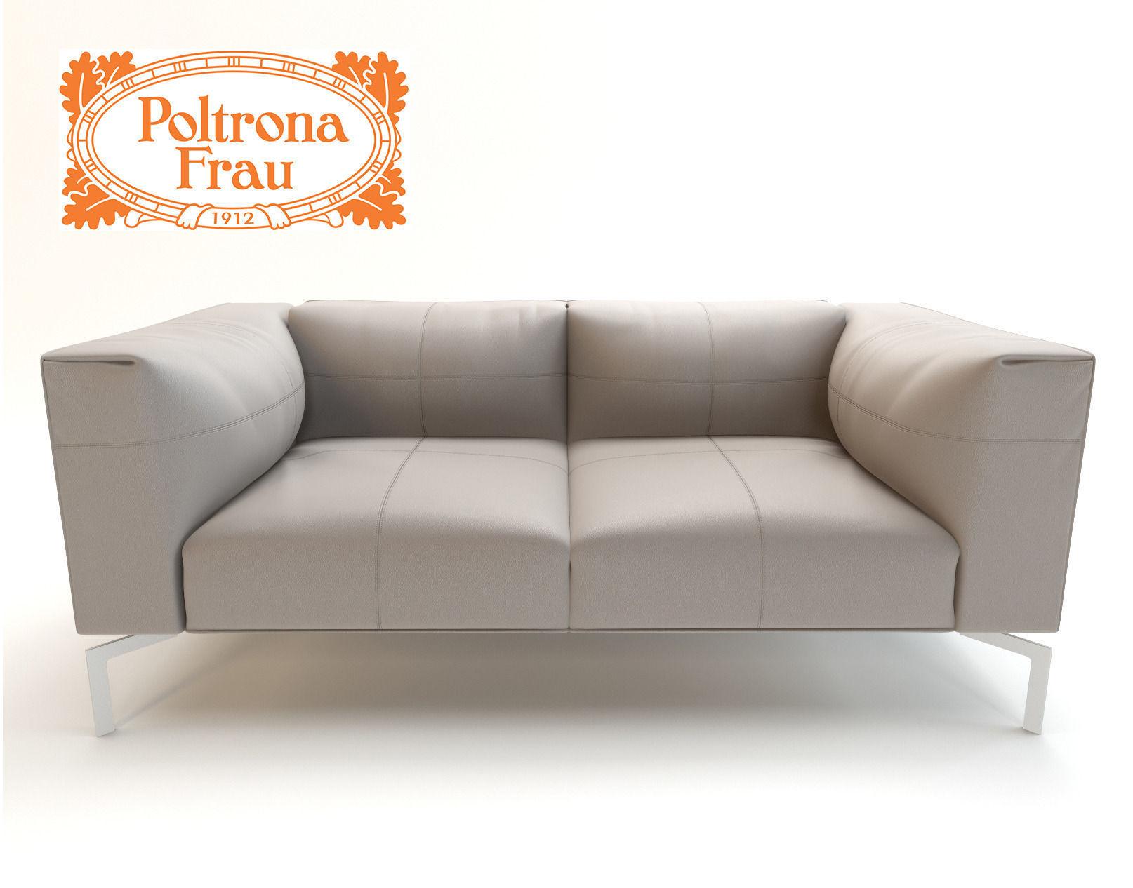 leather sofa poltrona frau 3d model max fbx. Black Bedroom Furniture Sets. Home Design Ideas