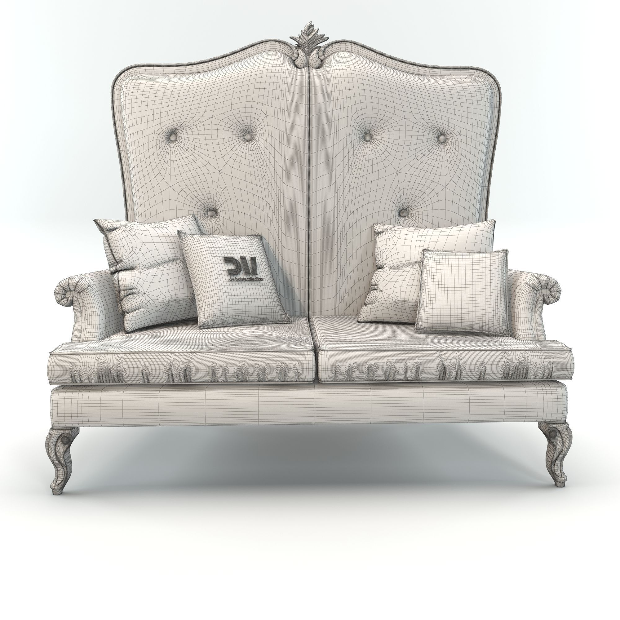 High Back Classic Elegant Sofa By Dv Home 3d Model Max Fbx