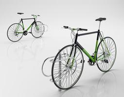 3d model bike with rack