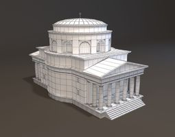 3d print model neoclassical st alexander church miniature