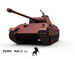 Panther Ausf G  Late 3D Model