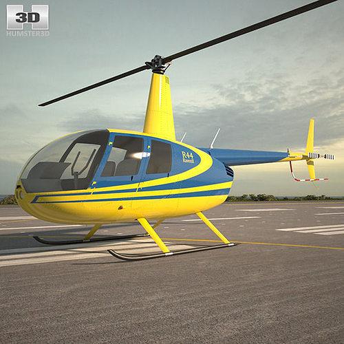 robinson r44 raven 3d model max obj 3ds fbx c4d lwo lw lws 1