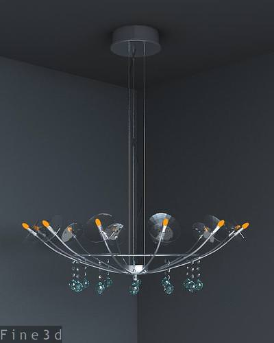 Upside-down Sowthistle Lamp 3D Model MAX OBJ 3DS RFA