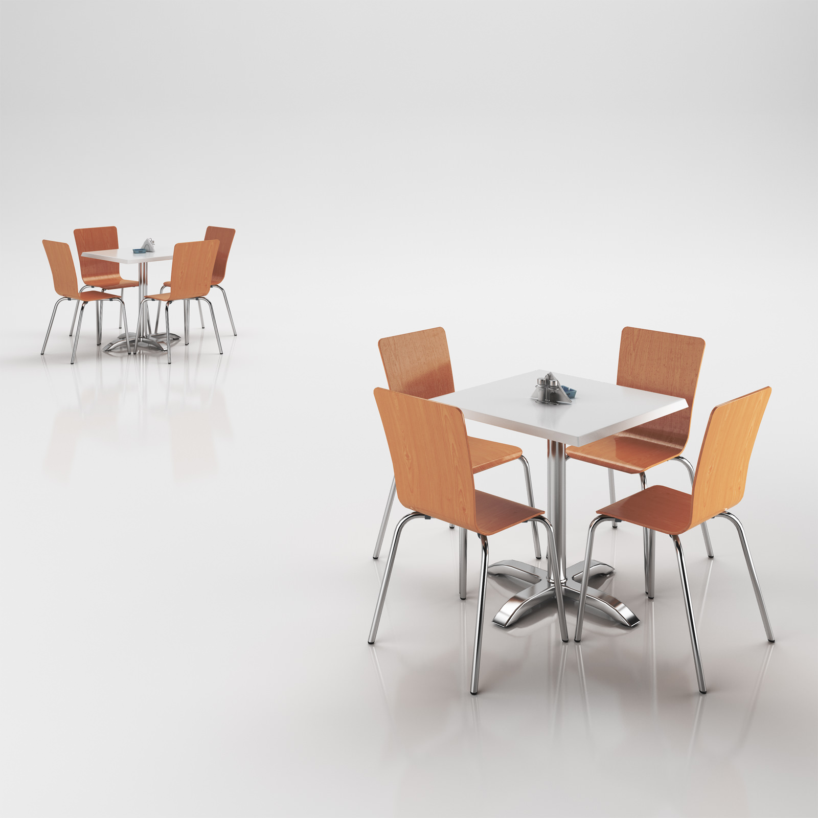 3D model Very Classic Chairs Set with Table
