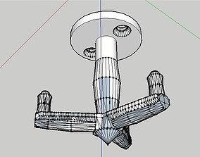 3D printable model 3-armed hanger