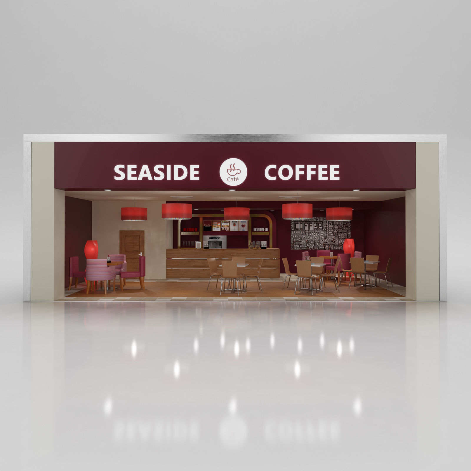 Coffee Shop With Interior 3d Model Max Obj 3ds C4d