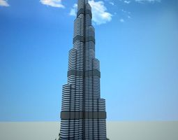 Burj Khalifa Tower 3D model