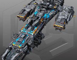SciFi Destroyer G4  3D Model