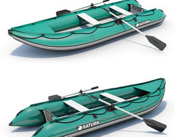 Inflatable Boat 04 3D Model