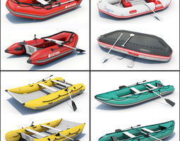 4 Inflatable Boats 01 3D Model