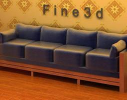 3D Dark Material Sofa