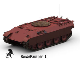 Bergepanther 3D Model
