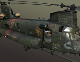 chinook mh-47 rigged 3d