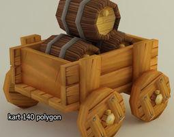 3D model lowpoly cart