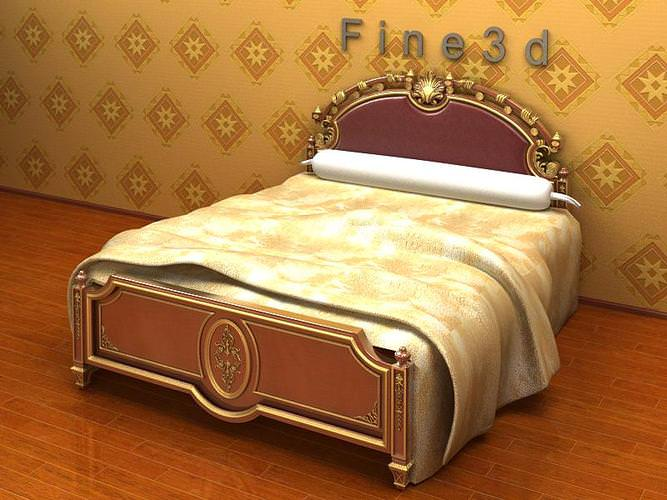 3d model luxurious double bed cgtrader for 3ds max bed model