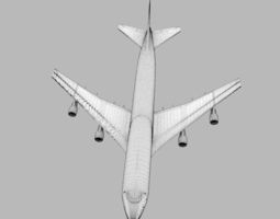 3D Boeing 747 airplane