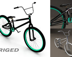 animated bmx bicycle 3d model