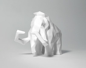 3D printable model Low Poly Mammoth
