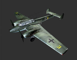 aircraft Messerschmitt Bf110 C4  3D Model