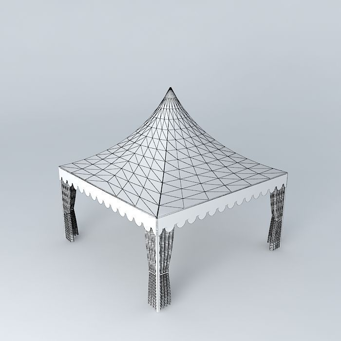 ... carnival tent 5 on 5 m 3d model max obj 3ds fbx stl dae 4 ... & 3D Carnival Tent 5 on 5 m | CGTrader