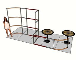 the exhibition portable t3 airframe little stand 81 3d model