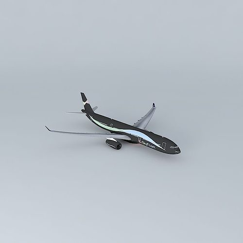 skyfoam airways airbus a330 343x 3d model max obj 3ds fbx stl dae 1