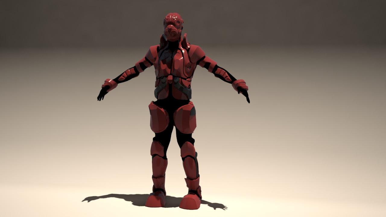 Futuristic armor 3d model 3d printable max stl for Futuristic household items