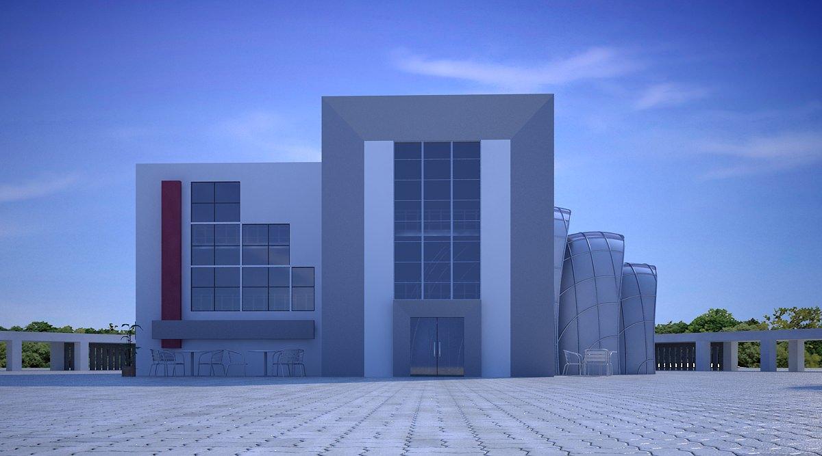 Office Building Scene 3d Model Max Obj 3ds 3dm Dwg