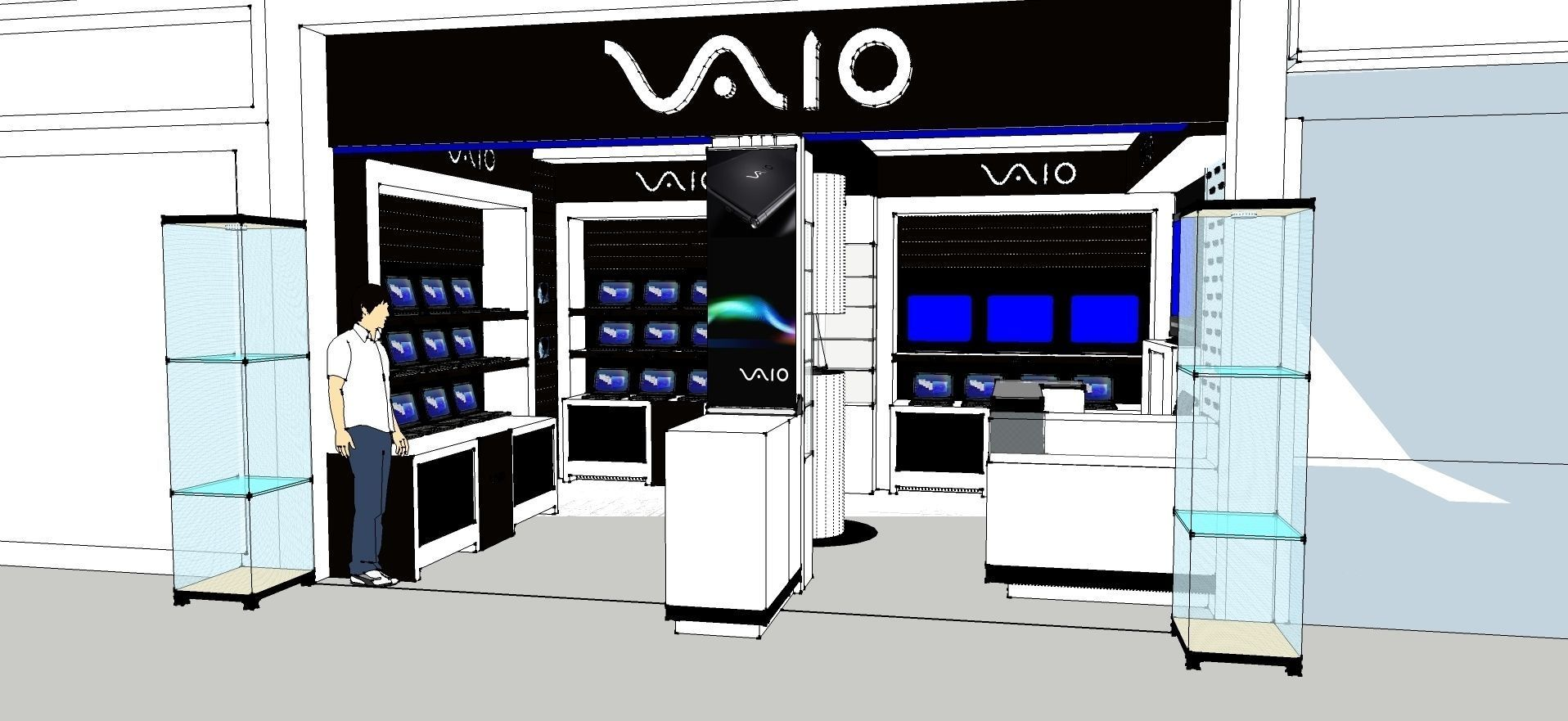 Exhibition Stand Sketchup : The exhibition portable t airframe shop s d model skp