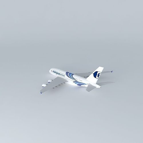 malaysia airlines airbus a380 3d model max obj 3ds fbx stl dae 1