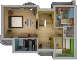 home interior floor plan 02 3d