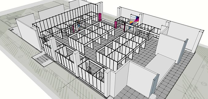 Exhibition Stand 3d Model Sketchup : The exhibition portable t airframe stand d