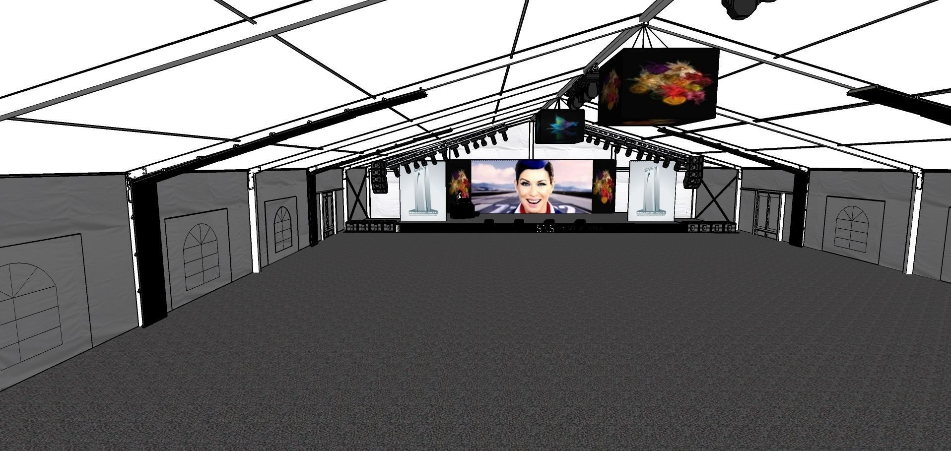 Exhibition Stand 3d Model Sketchup : The exhibition portable t airframe exhibi d model
